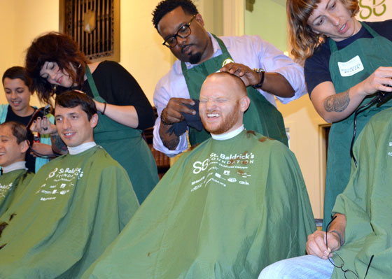 Chris goes bald at head-shaving event