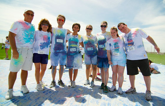 Color Run volunteers for Do What You Want fundraiser
