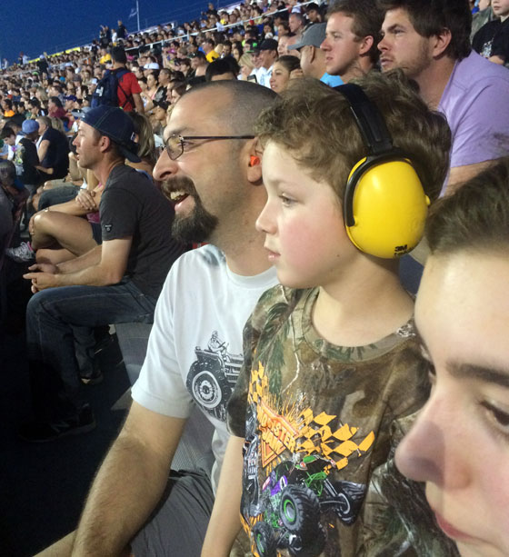 Phineas at Monster Jam World Finals