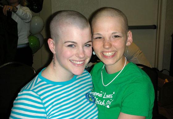 Sarah and Samantha as shavees