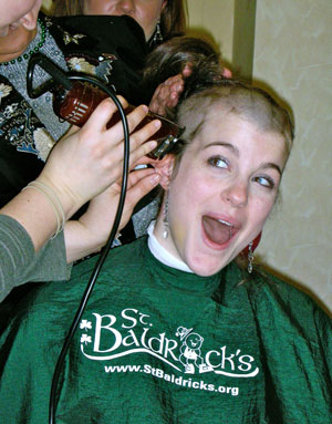 Sarah shaved for the second time in 2007