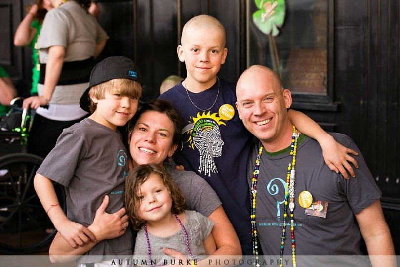 The Whitt family after their shave in 2011