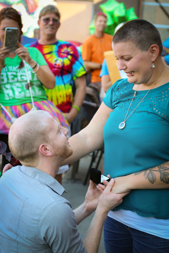 surprise proposal at event