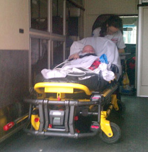 Chase in the ambulance