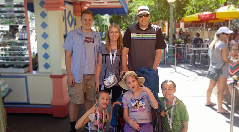 The Driscoll Family at Disneyland