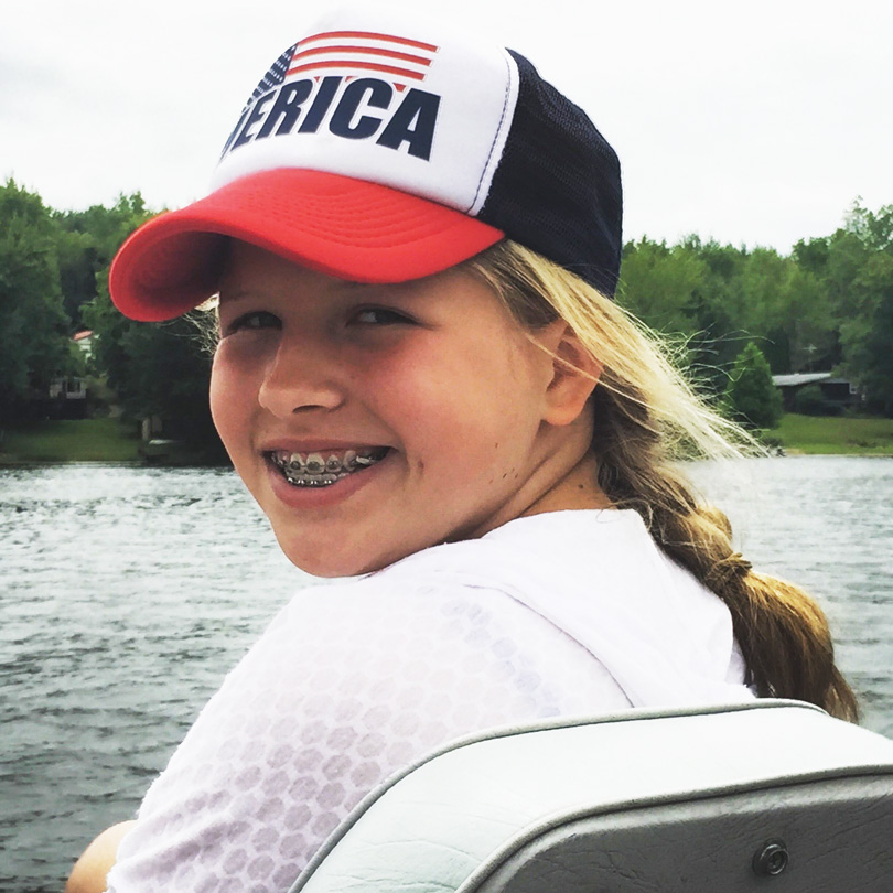 Sara smiles ocean
