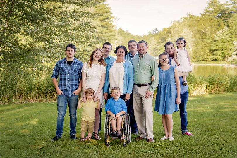 Kellan with his family