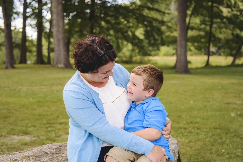 Kellan with his mom