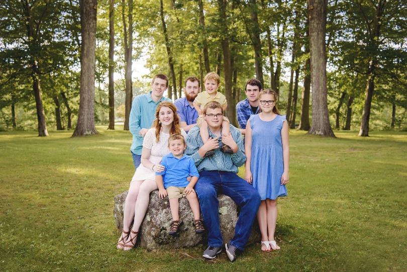 Kellan with his siblings