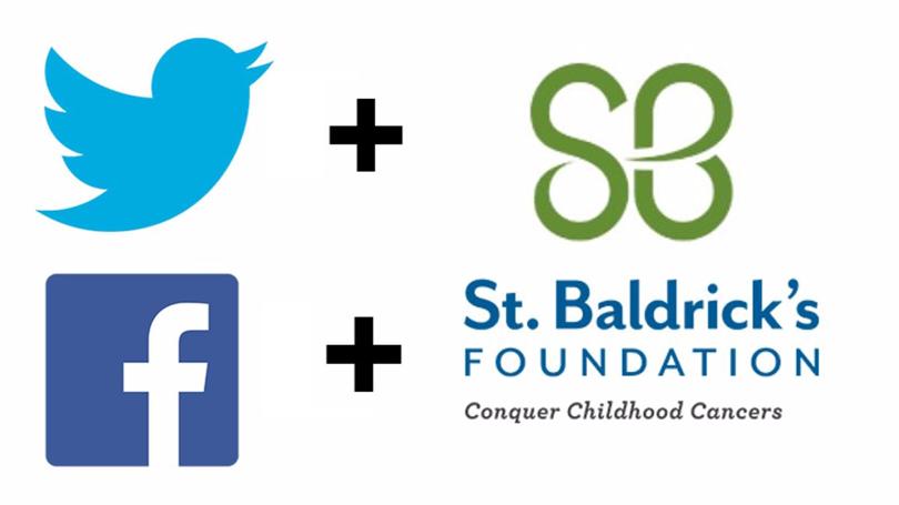 Twitter + Facebook + St. Baldrick's