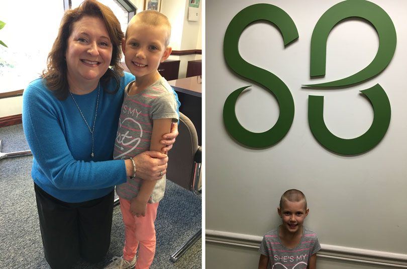 Lindsey visits the St. Baldrick's Foundation