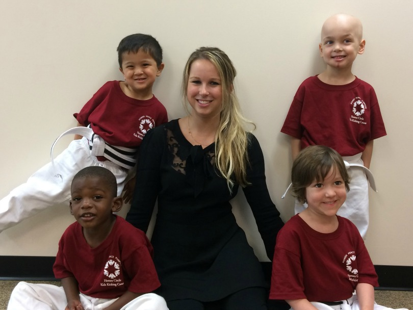 Dr. Hilary Marusak with pediatric patients