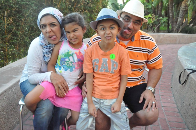 Zein's family silly faces