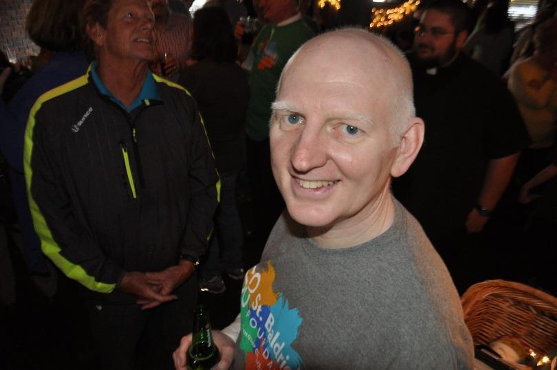 Adam smiles during the St. Patrick's school event