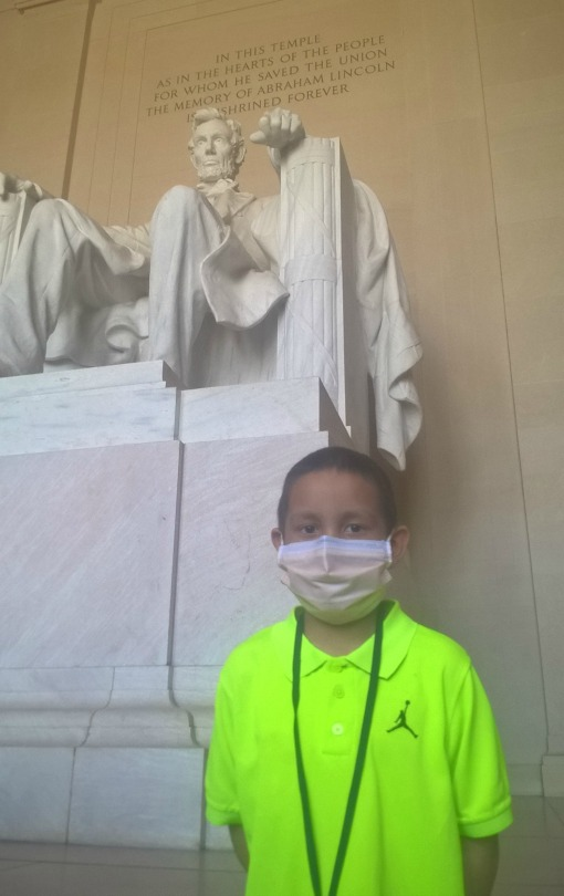 Leon at the Lincoln Memorial