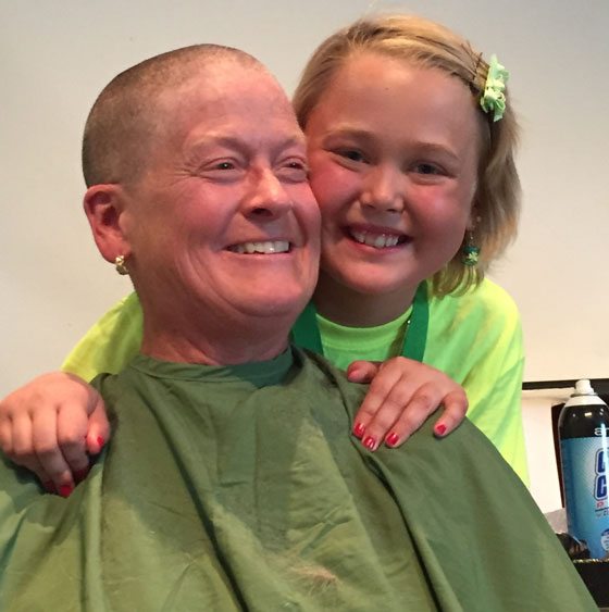 cheyenne and her grandma after her shave