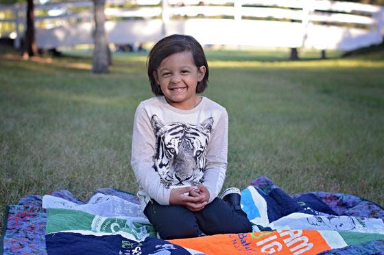 2017 ambassador Princeton smiling at the park