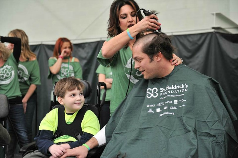 Eric shaves for his son
