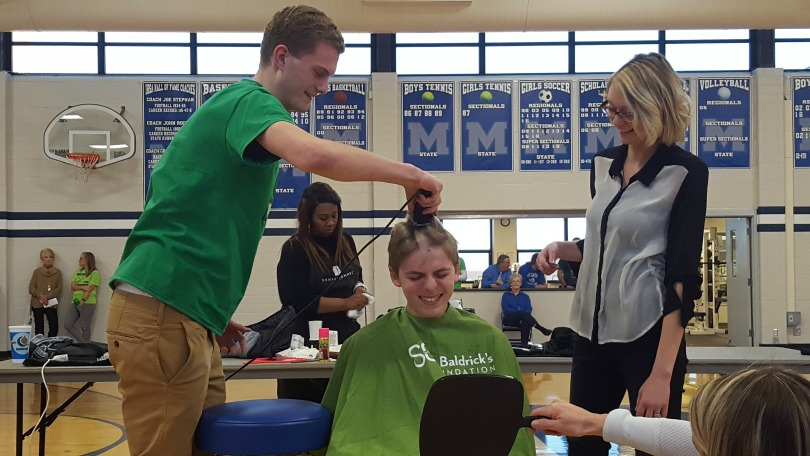 Jed's best friend starts shaving his head