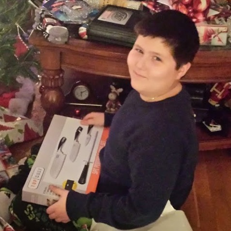 Petey gets knives for Christmas