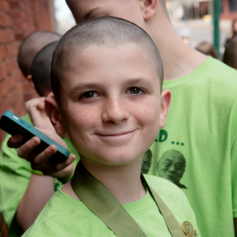 Bodie after his 2017 St. Baldrick's shave
