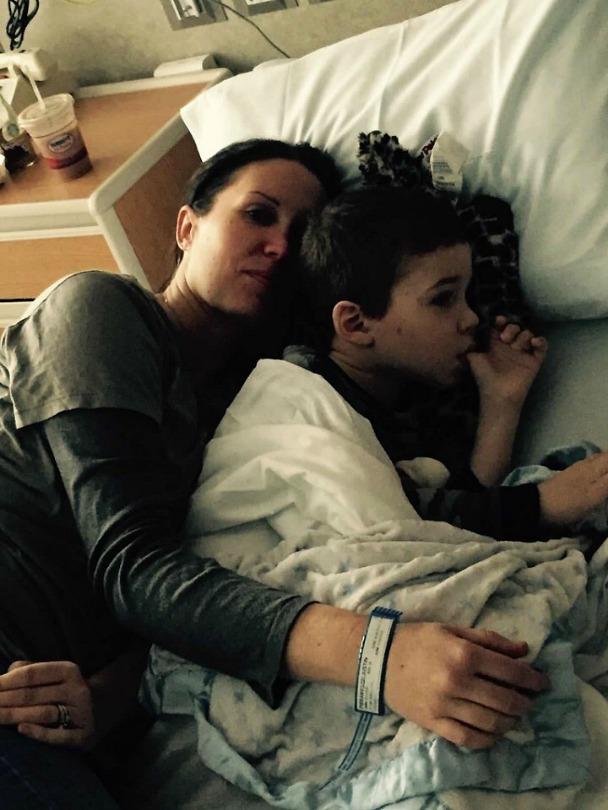 Katie cuddles Justin