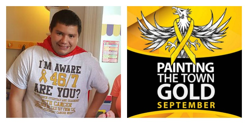 Todd Schultz is the 18-year-old founder of Painting the Town Gold
