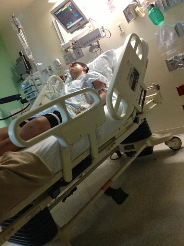 Todd Schultz in the hospital