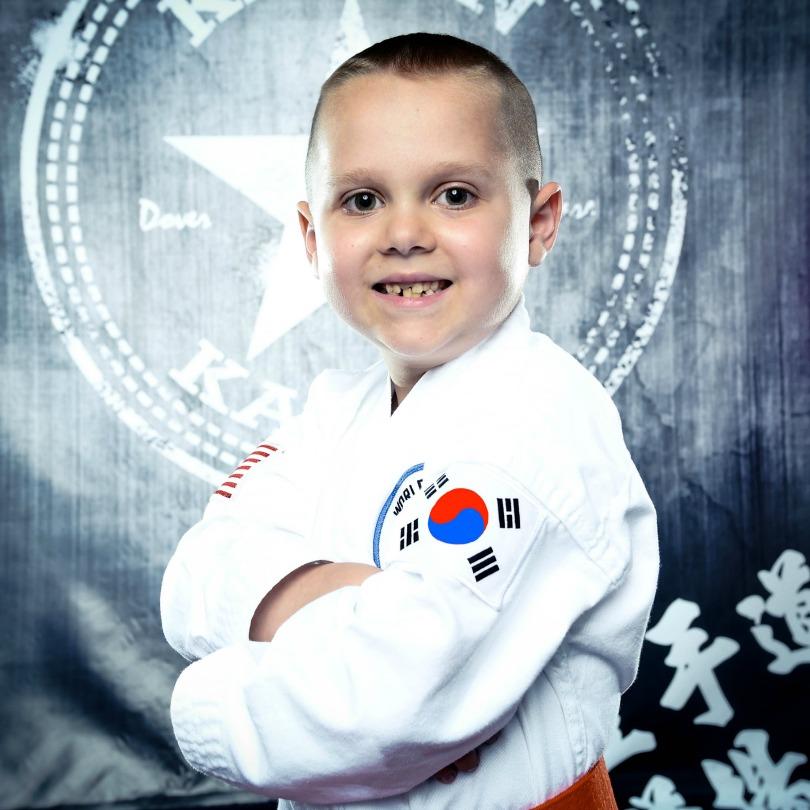Von in his karate gi