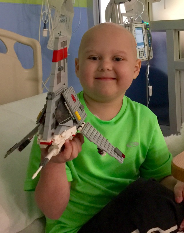 Von Kleiv plays with Legos while in the hospital