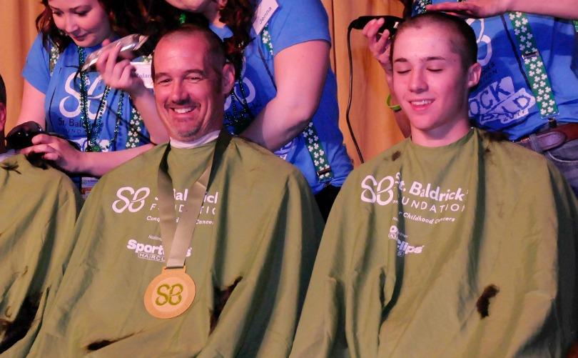 Kehl shaves with St. Baldrick's