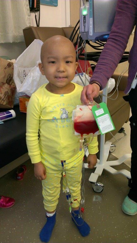 Ava during her transplant