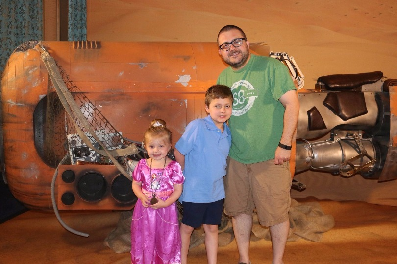Jim and his kids during Star Wars Day on the Disney cruise
