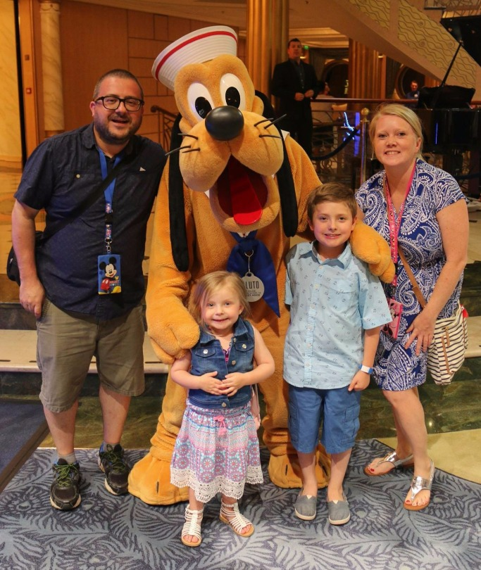 Jim and his family on the Disney cruise