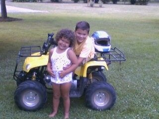 Geordan and Rayanna loved riding quads together