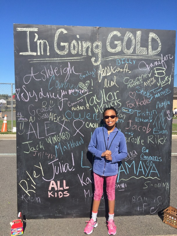 Ambassador Julia goes gold