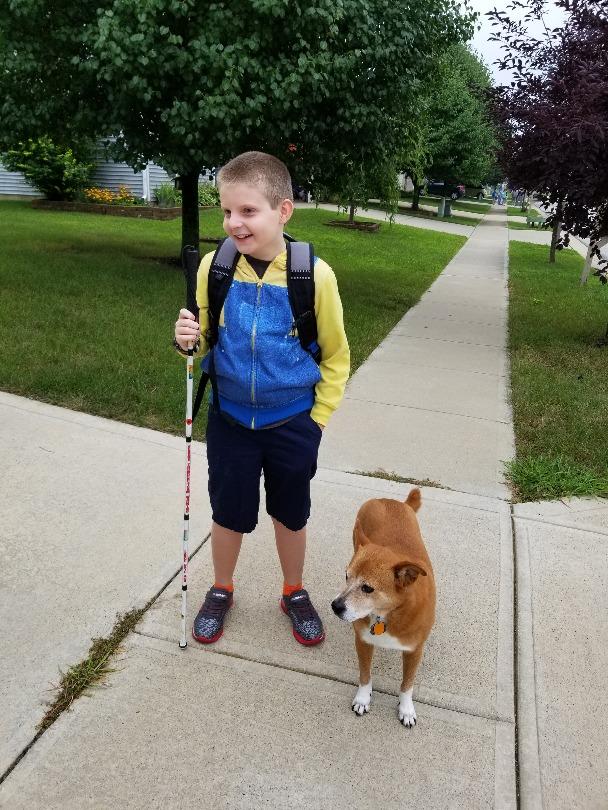 Matthias goes back to school