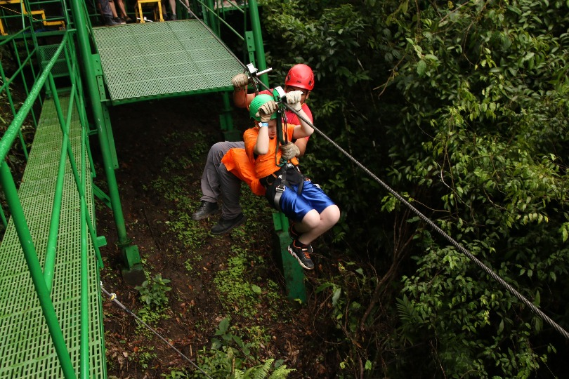 Matthias on the zip line