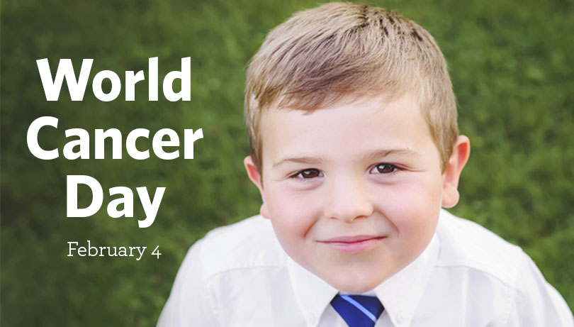 Help kids with cancer like Kellan on World Cancer Day