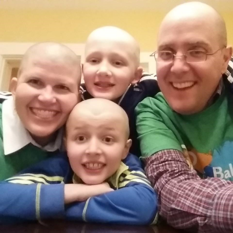 Jackson and his family rock the bald
