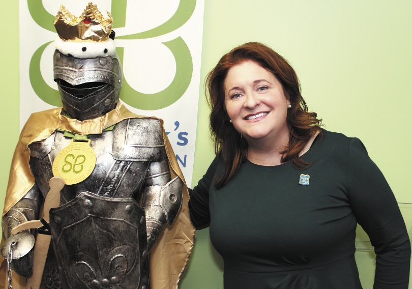 Kathleen with a knight