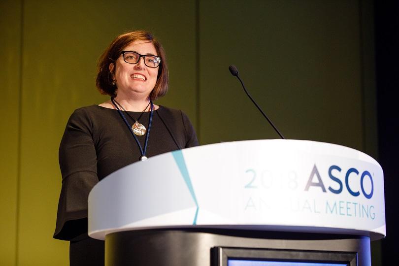 Danielle speaks at ASCO