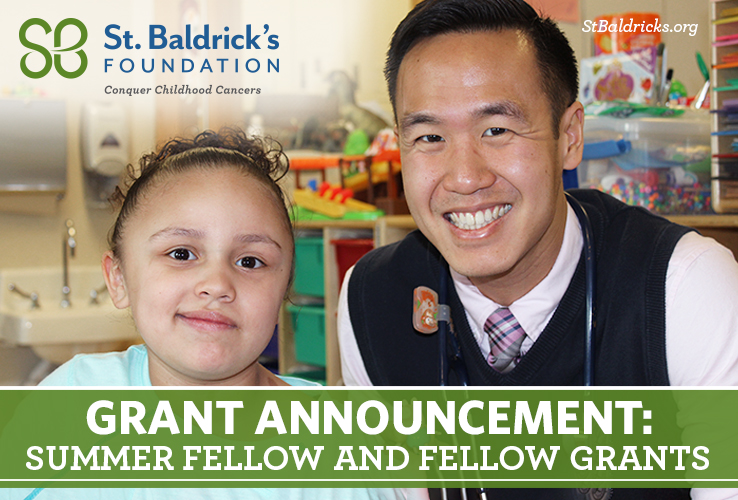 St. Baldrick's Summer Fellow and Fellow Grant Announcement