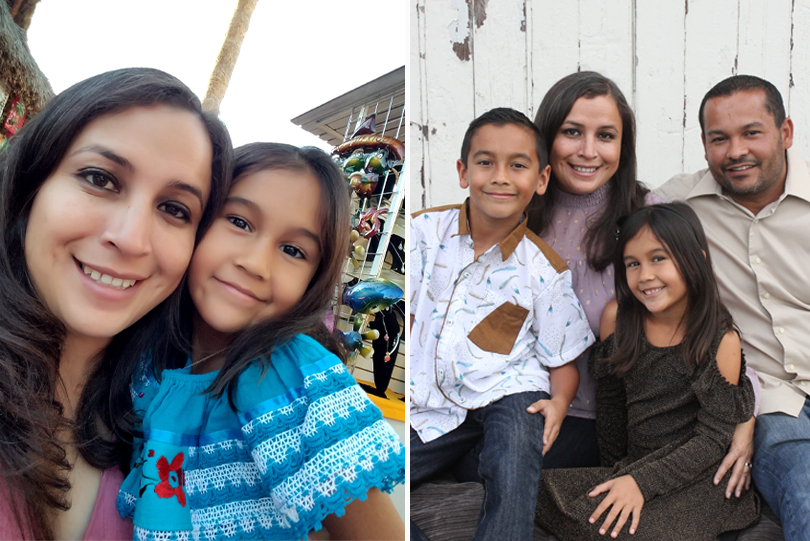 Vanessa and her family