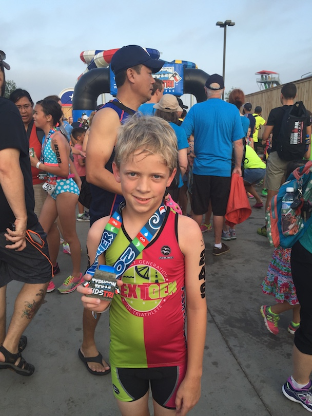 Honored Kid Sullivan finishes a triathlon before his diagnosis
