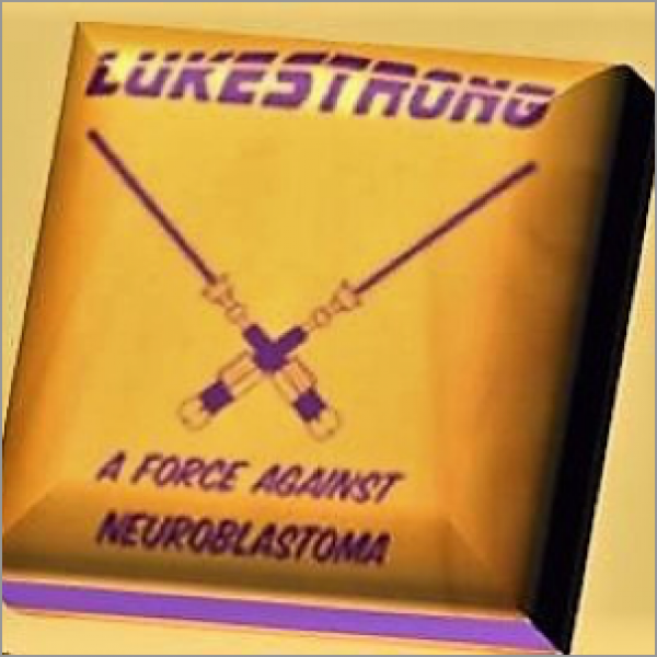 Logo for LukeStrong A Force Against Neuroblastoma Childhood Cancer Fund