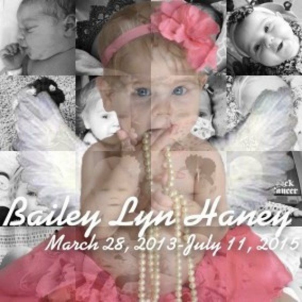 Going Gold for Bailey - In Memory of Bailey Haney 2016 Fundraiser Logo