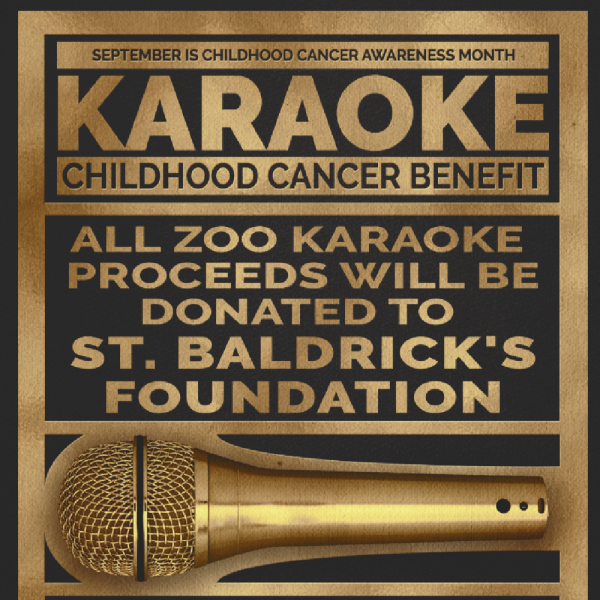 Zoo Karaoke 4th Annual Childhood Cancer Benefit Show Fundraiser Logo