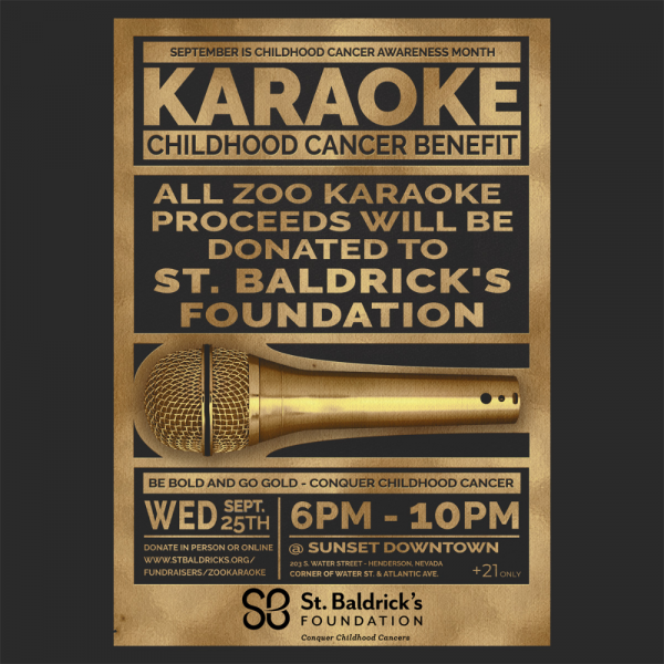 5th Annual Zoo Karaoke Childhood Cancer Benefit Show Fundraiser Logo