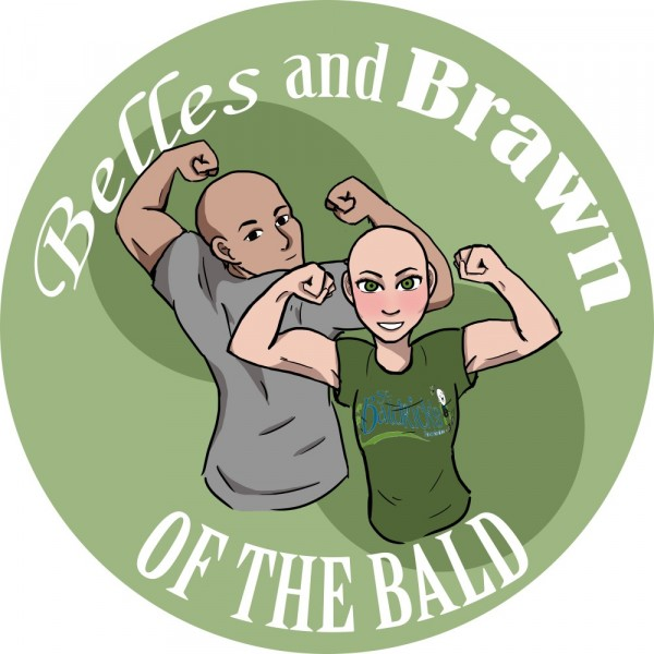 Belles and Brawn of the Bald Team Logo